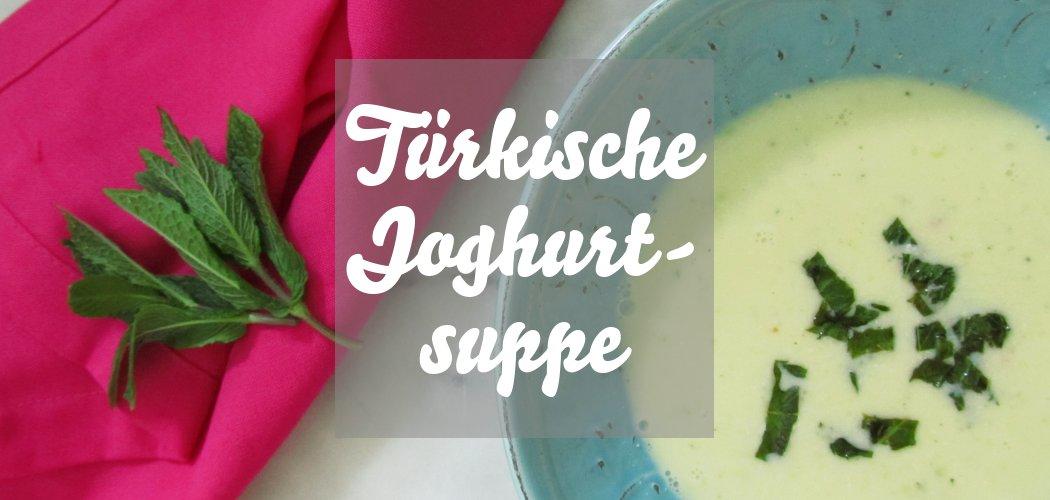 Türkische Joghurtsuppe mit Minze