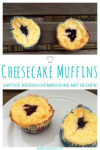 Leckere & saftige Cheesecake Muffins