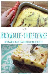 Leckerer und saftiger Brownie-Cheesecake