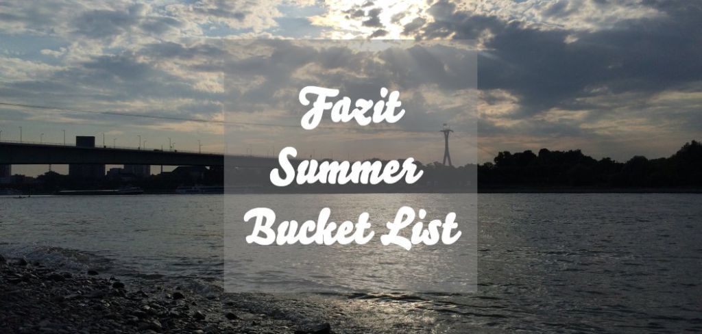 Fazit Summer Bucket List