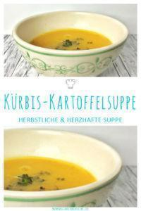 Kürbis-Kartoffelsuppe mit Kresse » einfaches herbstliches Suppenrezept