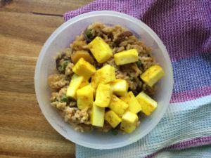 Erdnuss-Curry-Reis