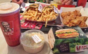 Mittagessen bei KFC