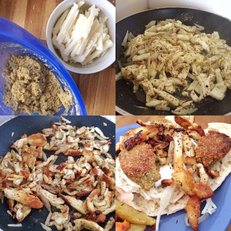 vegetarisches Gyros aus Halloumi