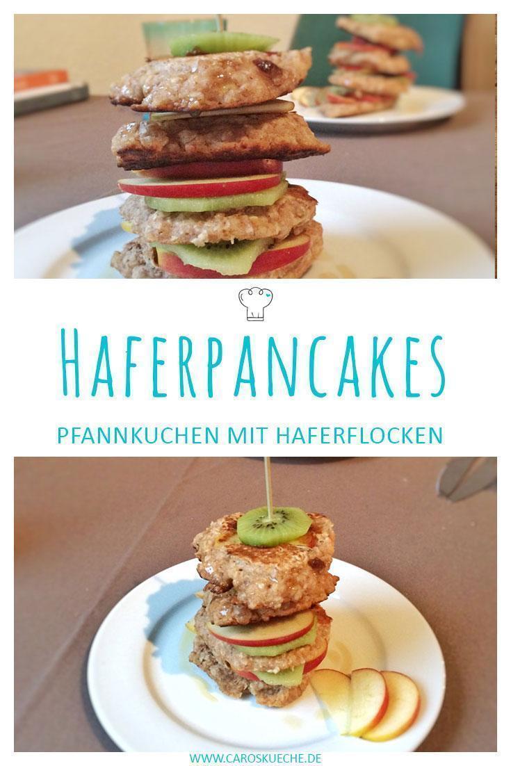 Fluffige Haferflockenpancakes mit Müsli