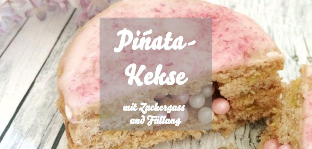Gefüllte Piñata-Kekse mit Zuckerguss