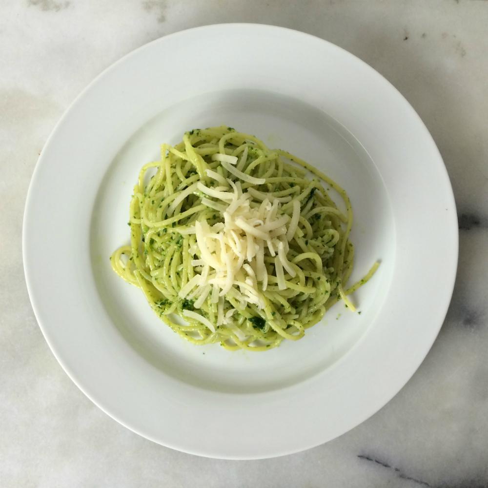 Bärlauchpesto mit Spaghetti