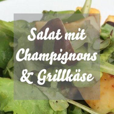 Salat mit Grillkäse