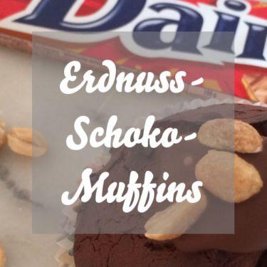 Erdnuss-Schoko-Muffins mit Karamell