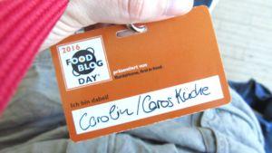 Namensschild Food Blog Day Berlin