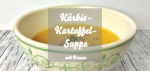 Kürbis-Kartoffel-Suppe mit Kresse