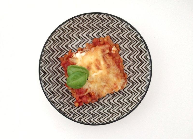 Linsenlasagne Bolognese vegetarisch
