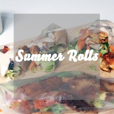 Summer Rolls mit Halloumi und Erdnussdip