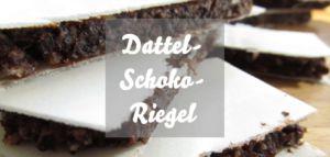 Dattel-Schoko-Energieriegel