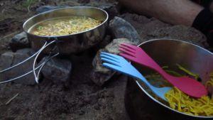 Trangia kochen beim Camping