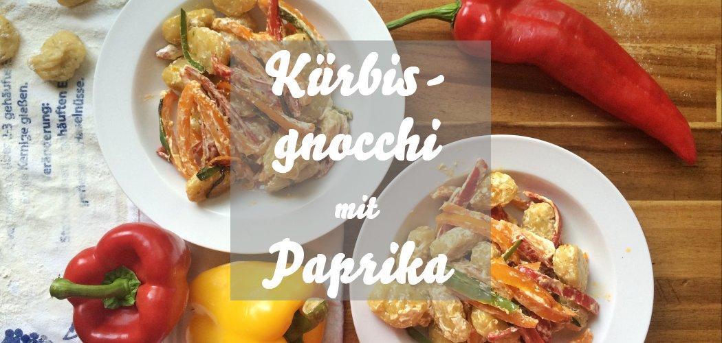 Kürbisgnocchi mit Paprika-Frischkäse-Soße