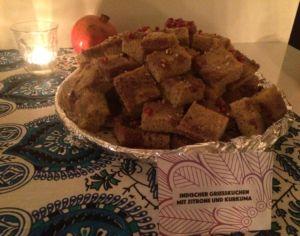 Grießkuchen mit Kurkuma