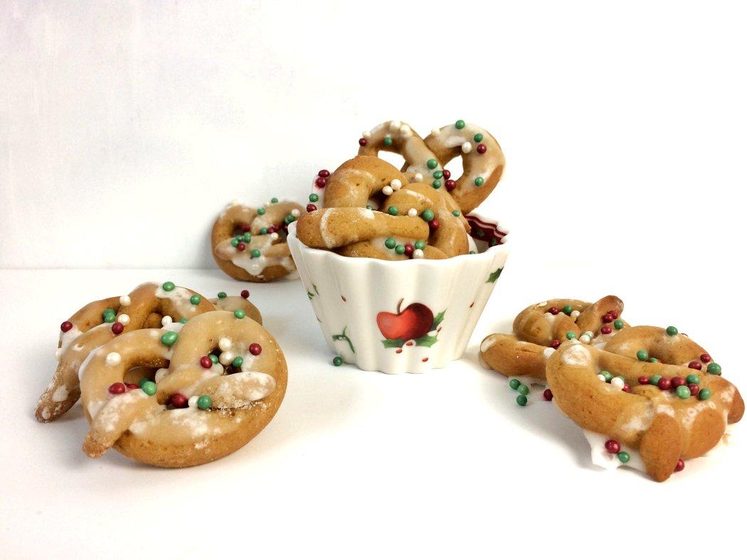 Weihnachtsplätzchen Brezeln Apfel