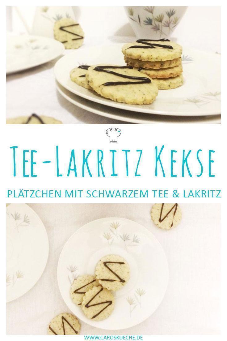 Tee-Lakritz-Plätzchen mit schwarzem Tee