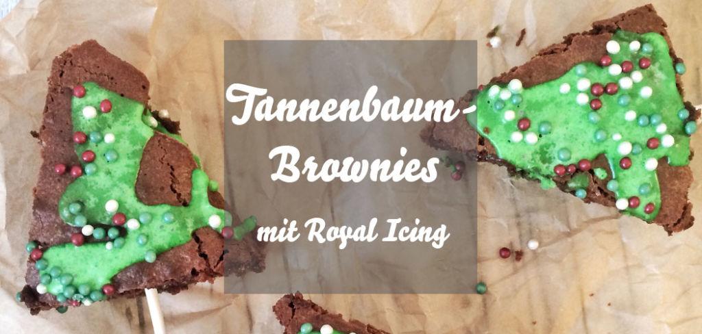 Tannenbaum-Brownies Weihnachten
