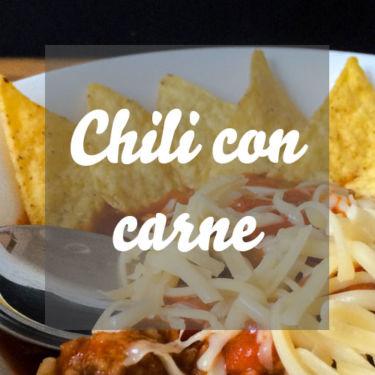 Chili con carne mit Tortillachips