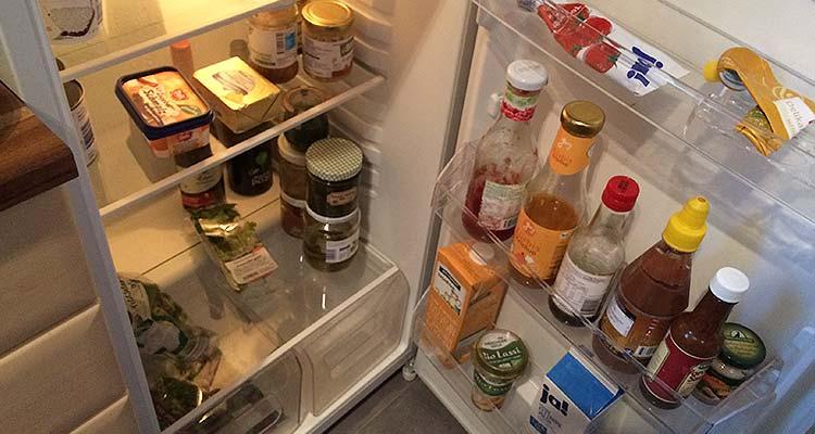 Kühlschrank zu Beginn der Woche