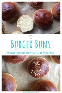 Fluffige Burger Buns » Brioche Burger Buns selber backen