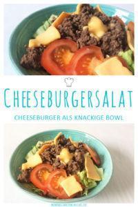 Cheeseburgersalat » Salt mit Cheeseburger Geschmack - Rezept für Cheeseburgersalat zum Nachmachen