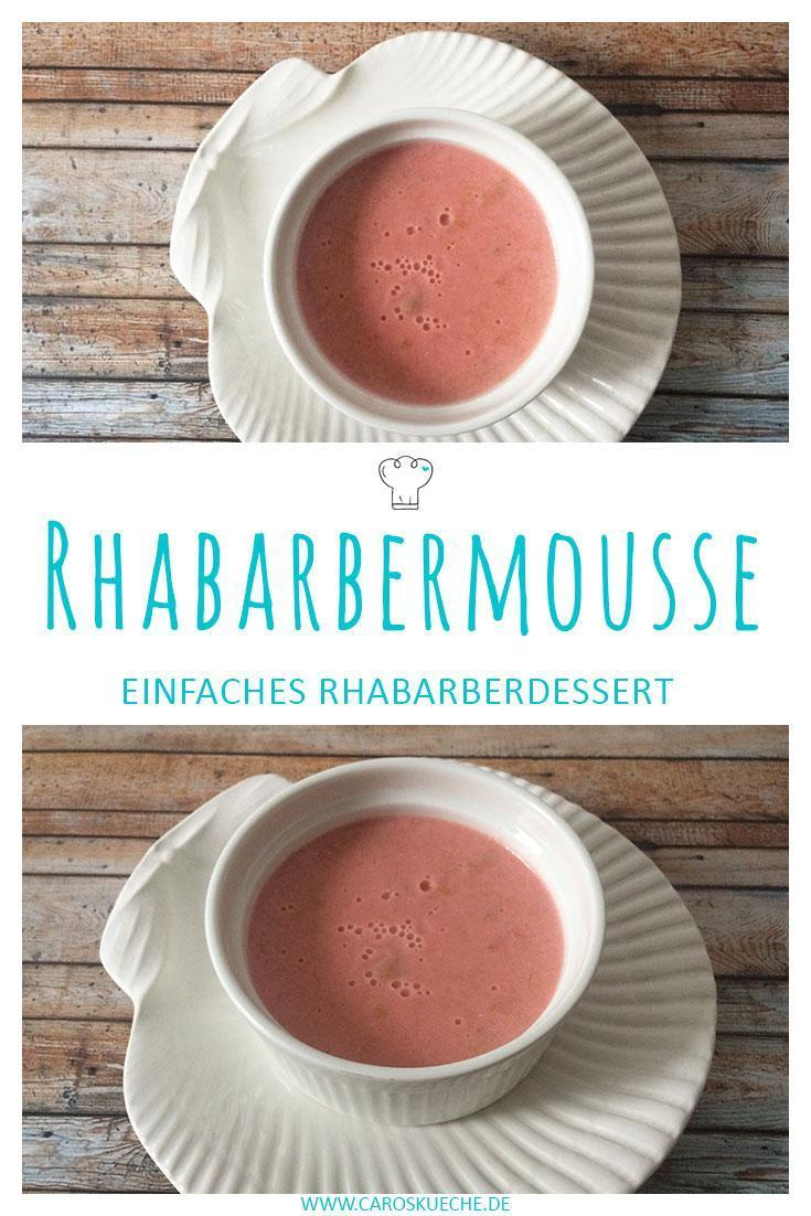 Rote Rhabarbermousse im Frühling