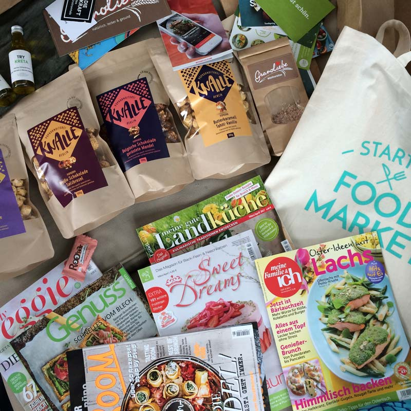 Goodiebag vom Startup Food Market in Berlin