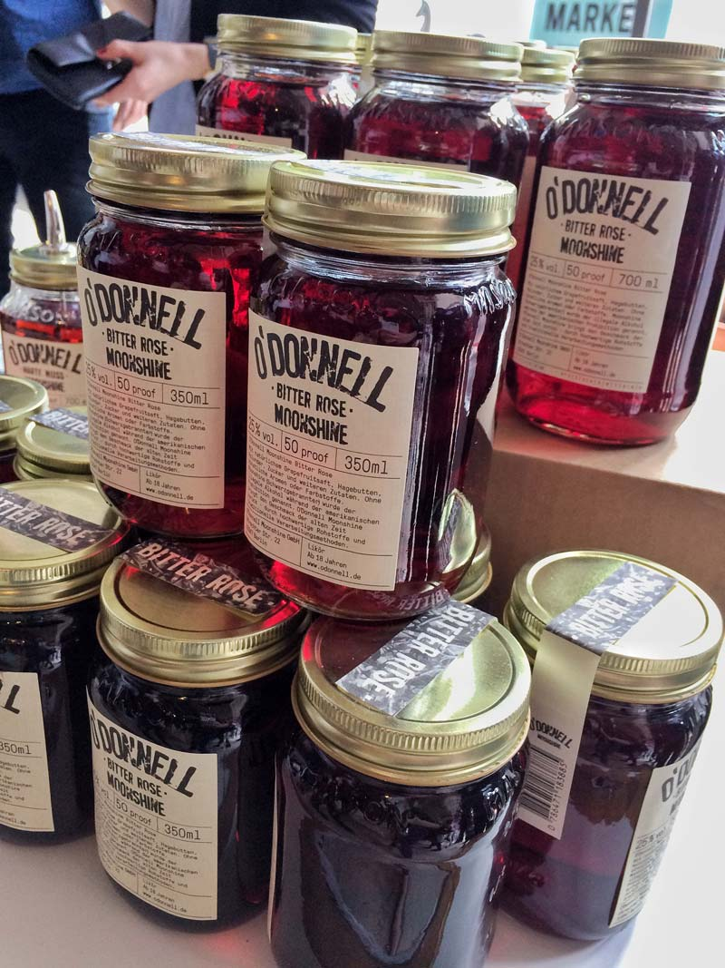 O'Donnell Moonshine beim Startup Food Market in Berlin