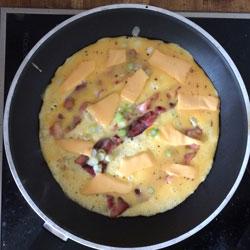 Frühstückscalzone vor dem Klappen
