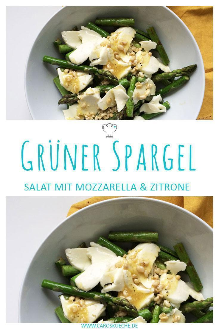 Grüner Spargel mit Zitrone und Mozzarella