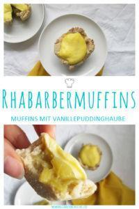 Rhabarber-Vanillepudding-Muffins