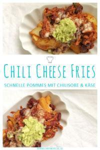 Leckere Chili Cheese Fries mit selbstgemachter Käsesoße » Rezept Chili Cheese Fries