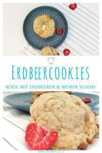 Erdbeer-Schoko-Cookies » Leckere Kekse mit Erdbeeren & weißer Schokolade