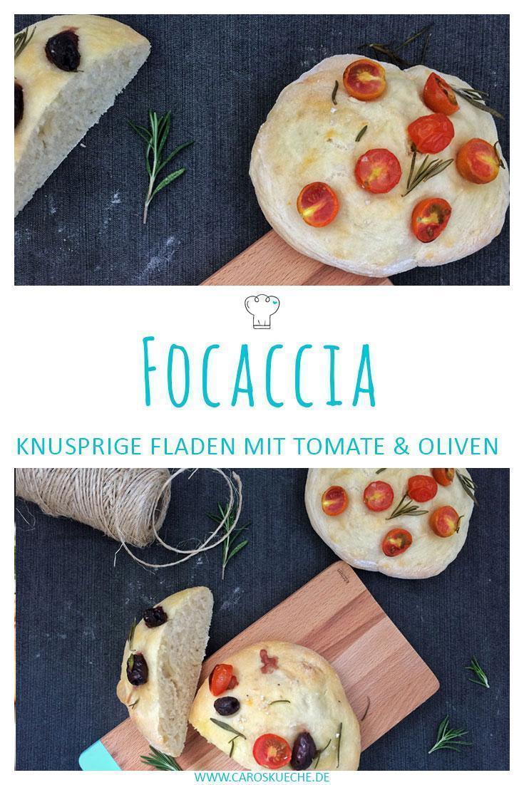 Focaccia Rezept » Knusprige italienische Fladenbrote mit Tomaten & Oliven