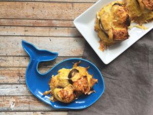 Überbackene Kartoffelrösti mit Champignons und Käse