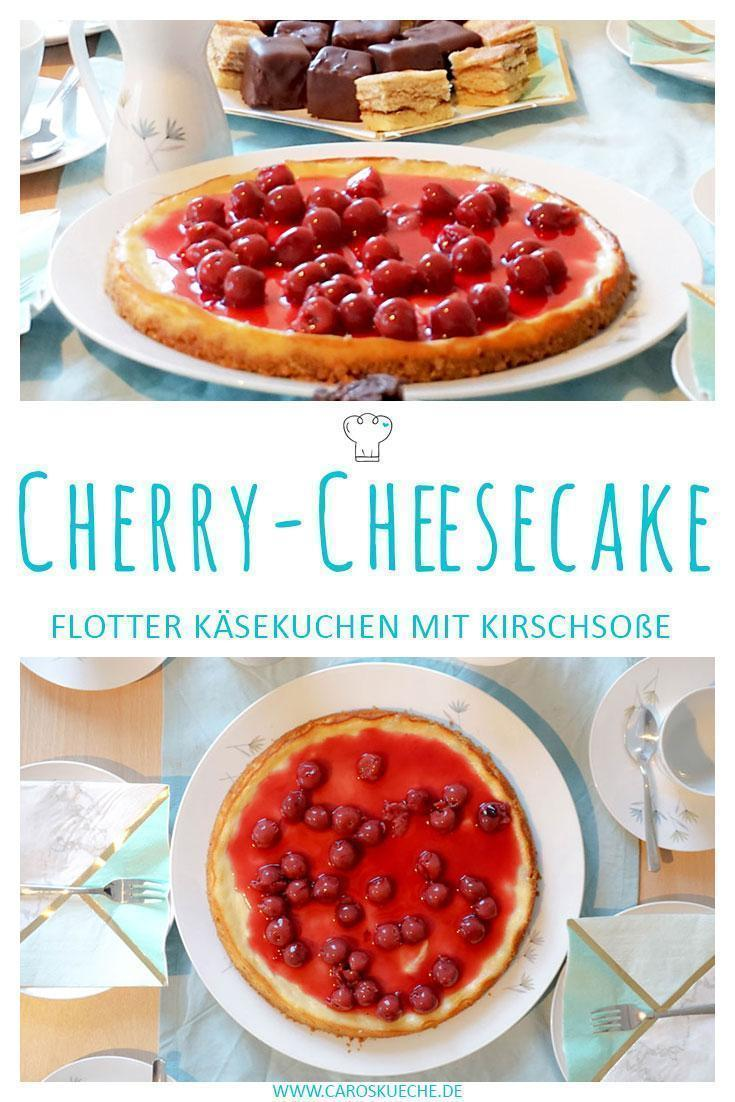 Cherry Cheesecake » Käsekuchen Rezept mit Kirschsoße | Leckerer Käsekuchen