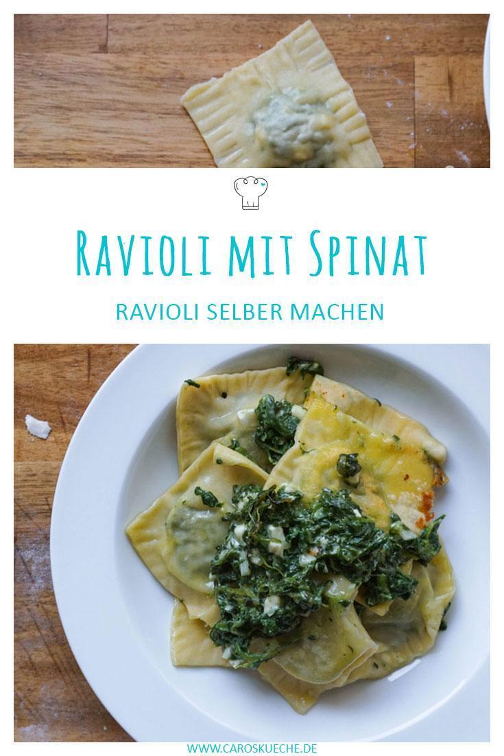 Spinatravioli selber machen » Rezept für Ravioli