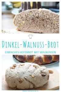 Dinkel-Walnussbrot mit Hefe selber backen » Leckeres und schnelles Brotrezept