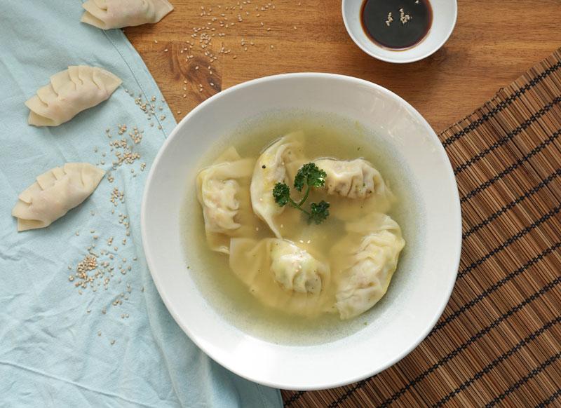 Gyoza als Suppe