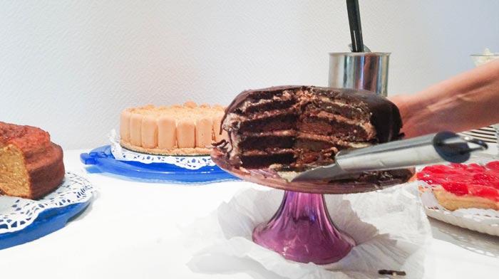 Vegane Torte Anschnitt