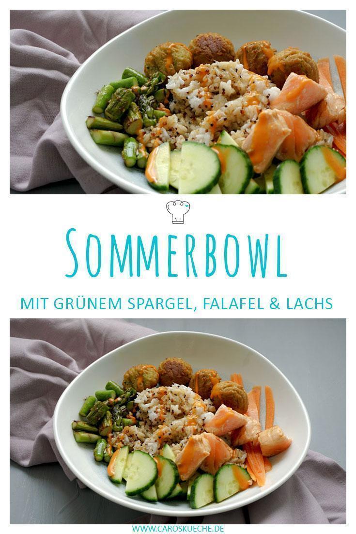 Schnelle Sommerbowl mit Lachs & Spargel
