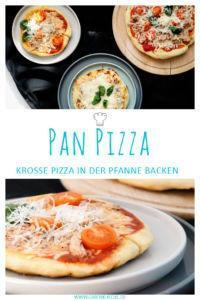 Pan Pizza backen » Pizza aus der Pfanne Rezept