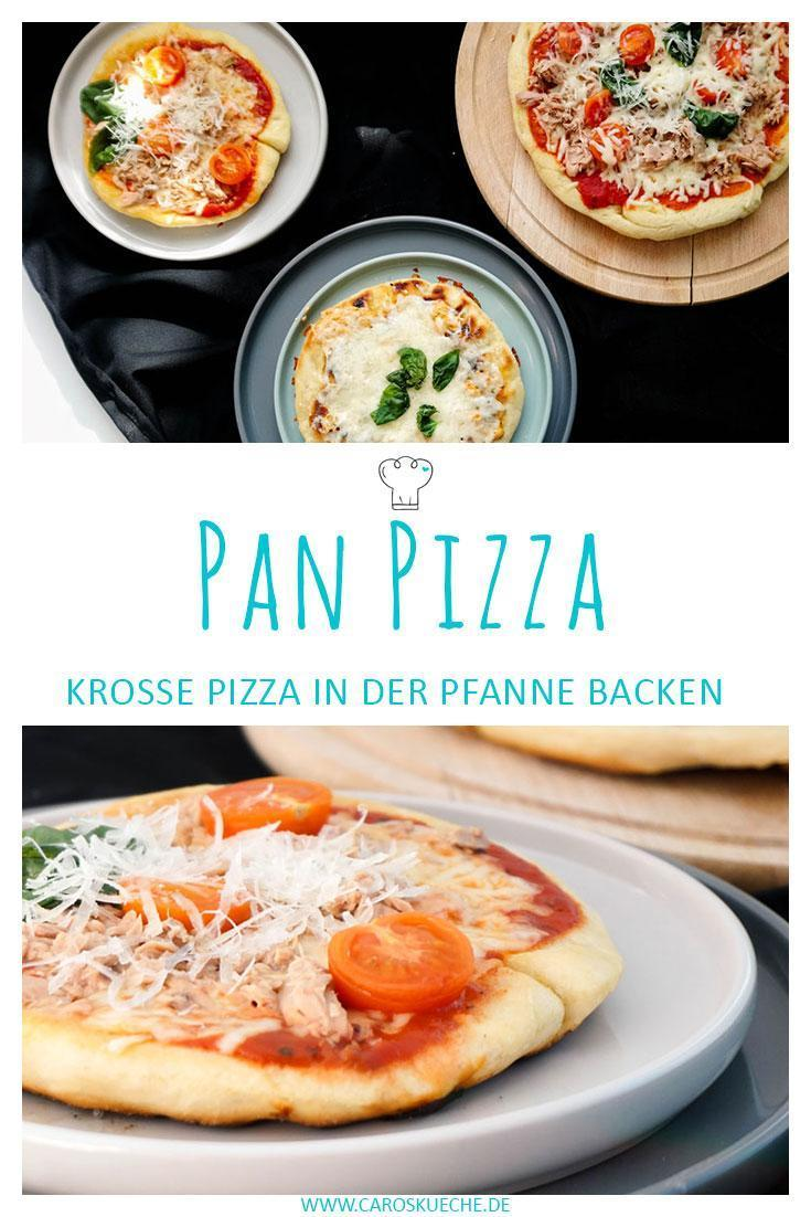 Pan Pizza backen » Pizza aus der Pfanne Rezept