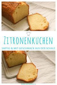 Leckerer Zitronenkuchen, besonders saftig durch Frischkäse