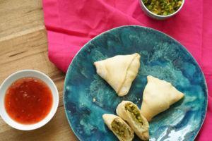 Samosas Gobi Matar zum Selbermachen inklusive Teig