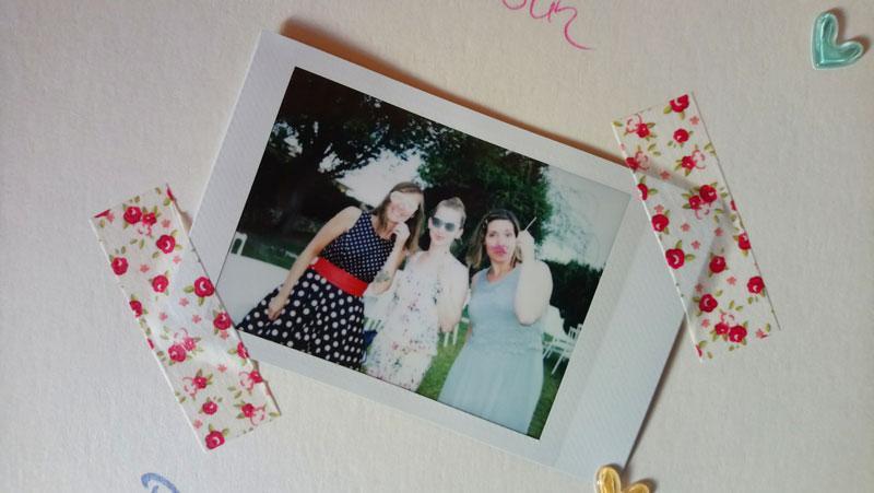 Polaroid-Spaß bei der Hochzeit