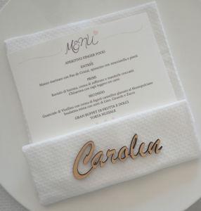 Menü italienische Hochzeit